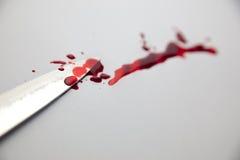 Couteau et sang Image libre de droits