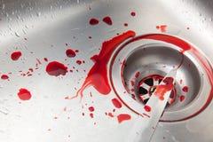 Couteau et sang Images libres de droits