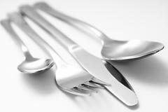 Couteau et spooon de fourchette image stock