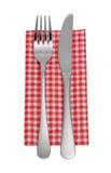 Couteau, fourchette, serviette images stock