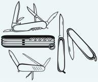 Couteau militaire suisse Photographie stock libre de droits