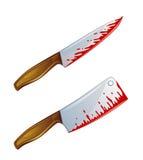 Couteau sanglant Image libre de droits