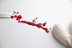 Couteau sanglant Photographie stock libre de droits