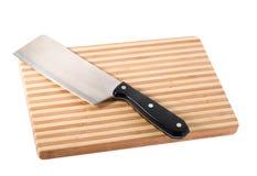 Couteau sur le hachoir Photographie stock