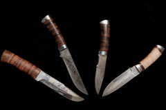 Couteaux de chasse russes Images stock