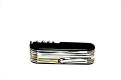 Couteaux de couteau ou de Multi-outil de campeur Photographie stock libre de droits