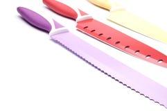Couteaux de cuisine Photographie stock libre de droits