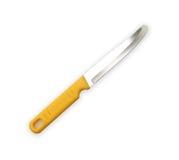 Couteaux de cuisine en acier, d'isolement sur le fond blanc Photographie stock