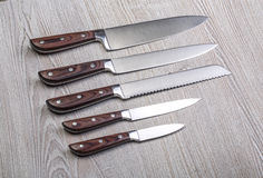 Couteaux de cuisine professionnels Images stock