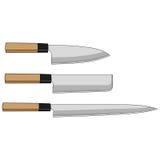 Couteaux de sushi photo libre de droits