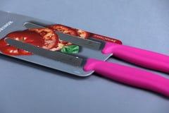 Couteaux de Victorinox, fond blanc d'isolement photographie stock libre de droits