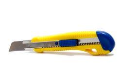 Couteaux pour le papier d'isolement sur le fond blanc Photos stock
