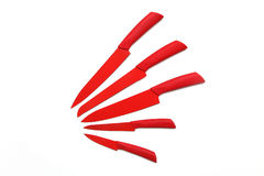 Couteaux rouges photographie stock