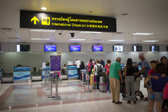 Couter Check in inside Chiang mai International Airport Royalty Free Stock Image