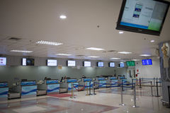 Couter Check in inside Chiang mai International Airport. CHIANG MAI, THAILAND -APRIL 25 2017: Couter Check in inside Chiang mai International Airport Airport Royalty Free Stock Image