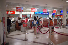 Couter Check in inside Chiang mai International Airport Royalty Free Stock Photo