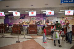 Couter Check in inside Chiang mai International Airport Stock Photo