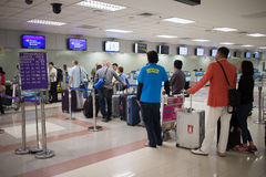 Couter Check in inside Chiang mai International Airport Stock Photos