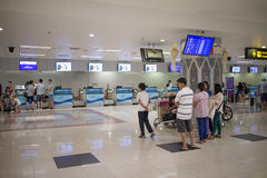 Couter Check in inside Chiang mai International Airport Stock Photography