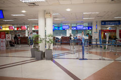 Couter signent l'aéroport international intérieur de Chiang Mai Image libre de droits