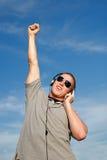 Écouteurs de musique Photo libre de droits