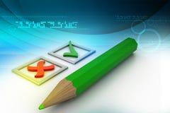 coutils dans les checkboxes et le crayon Image libre de droits