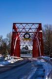 Coutry-Stahlbrücke Stockfoto