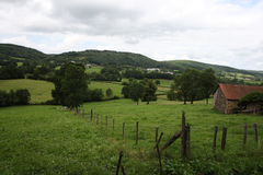 Coutryside d'Auvergne Image stock