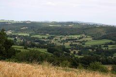 Coutryside d'Auvergne photo libre de droits