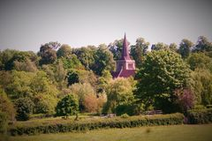 Coutryside landscape with church royalty free stock photography