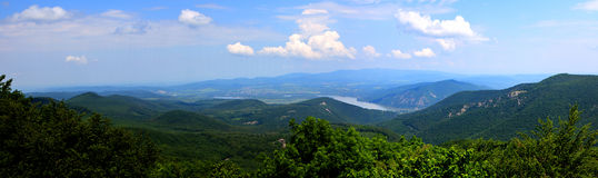 Countryside mountain Danube Hungary Royalty Free Stock Photos
