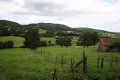 Coutryside van Auvergne Stock Afbeelding