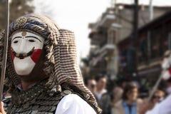 Coutume de carnaval en Grèce photographie stock libre de droits