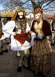 Coutume de carnaval en Grèce images stock