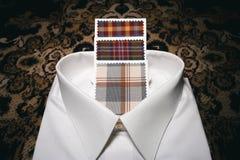 Coutume de luxe travaillant la chemise habillée de modèles d'impression photographie stock