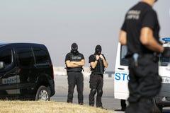Coutumes et dirigeants de protection de frontière images libres de droits