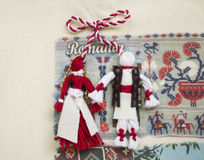 Coutumes roumaines - Martisor Photos stock