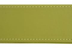 Couture d'amorçage sur le cuir vert Image libre de droits
