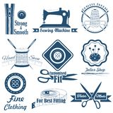 Couture de style de vintage et label de tailleur Photo libre de droits