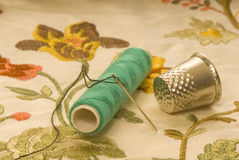 Couture et broderie Photo stock