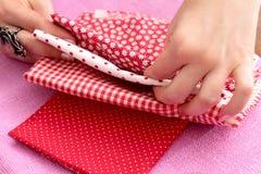 Couture, patchwork Images libres de droits