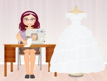 Couture wedding dresses. Illustration of couture wedding dresses Stock Images