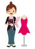 Couturier féminin Photo stock