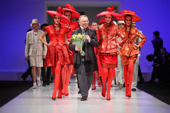 Couturier Slava Zaytzev and models Royalty Free Stock Images
