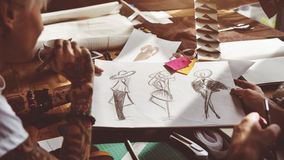Couturier Stylish Showroom Concept Photos libres de droits
