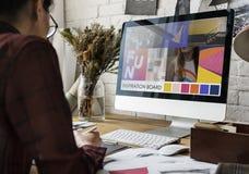 Couturier Stylish Showroom Concept Image libre de droits