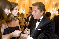 Couturier Valentino bij de Bal van de Liefde Royalty-vrije Stock Afbeelding