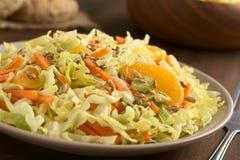 Couve-de-milão, cenoura, aipo e salada alaranjada Fotografia de Stock