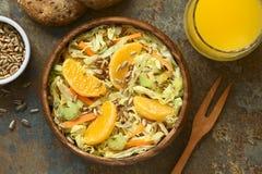 Couve-de-milão, cenoura, aipo e salada alaranjada Imagens de Stock Royalty Free