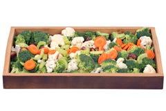 Couve-flor, brócolis, cenoura e aipo Imagem de Stock Royalty Free